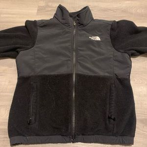 The North Face girls fleece jacket full zip